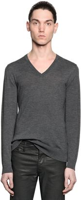 Fine Wool Knit V Neck Sweater $285 thestylecure.com