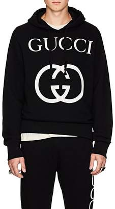 Gucci Men's Interlocking-G-Print Cotton Hoodie