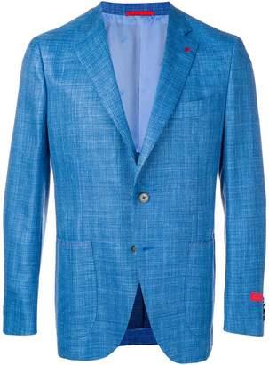 Isaia contrast stitch blazer