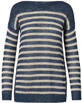 Polo Ralph Lauren Striped Linen Boatneck Sweater $165 thestylecure.com