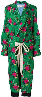 floral ptrint coat