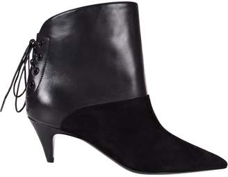 Saint Laurent Laced Back Ankle Boots