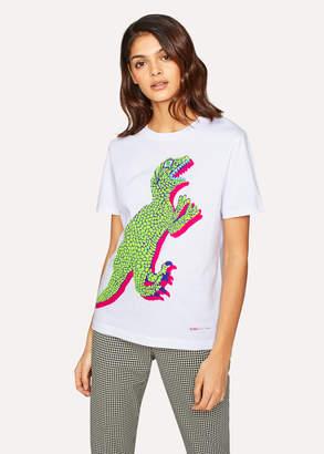 Paul Smith Women's White Large 'Dino' Print Cotton T-Shirt