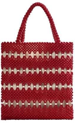 Violeta BY MANGO Beads bucket bag