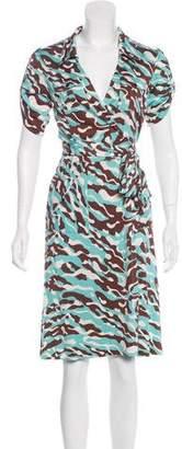 Diane von Furstenberg Camouflage Print Shirtdress