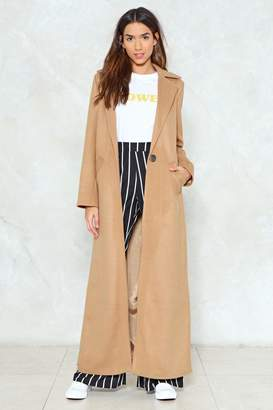 Nasty Gal Maxed Out Longline Coat