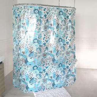 """Splash Home Forever PEVA Shower Curtain, 72"""" x 70"""", Blue"""