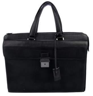 Giorgio Armani Grained Leather Briefcase black Grained Leather Briefcase