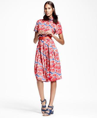 Floral-Print Cotton Sateen Shirt Dress $228 thestylecure.com