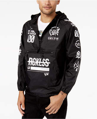 Young & Reckless Men's Strike Thru Graphic-Print Windbreaker