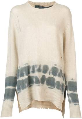 Raquel Allegra cashmere distressed knitted sweater