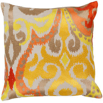 Surya Orange Ikat Decorative Pillow