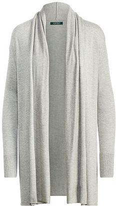 Ralph Lauren Lauren Jacquard Open-Front Cardigan $70 thestylecure.com