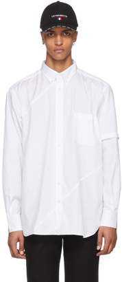 Vetements White Cut Up Plain Shirt