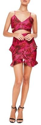 Women's Missguided Print Wrap Strap Crop Top $72 thestylecure.com