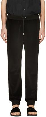 Versace Black Velour Lounge Pants $775 thestylecure.com
