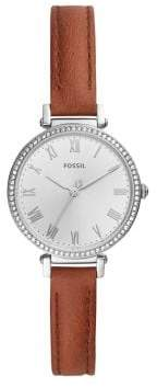 Fossil Kinsey Stainless Steel & Leather-Strap Three-hand Watch