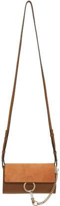 Chloé Brown Mini Faye Wallet Bag