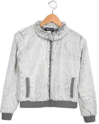 Patagonia Girls' Faux-Fur Zip-Up Jacket