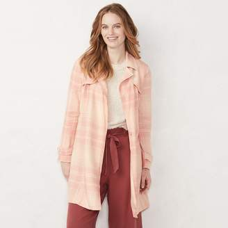 Lauren Conrad Women's Cropped Trench Jacket