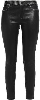 L'Agence Leather Skinny Pants