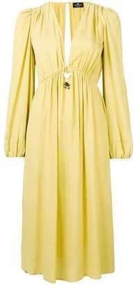 Elisabetta Franchi V-neck midi dress