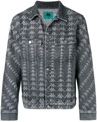Kappa all-over logo denim jacket