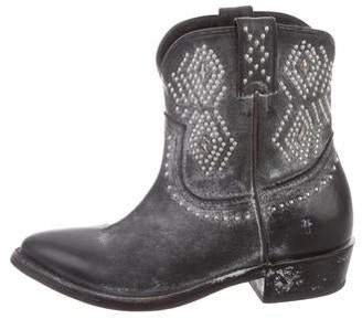 Frye Studded Leather Ankle Boots