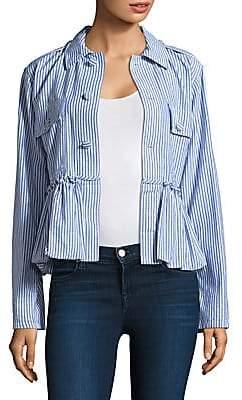Harvey Faircloth Women's Striped Bubble Cotton Jacket