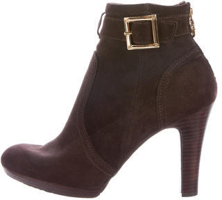 Tory BurchTory Burch Suede Buckle-Accented Ankle Boots