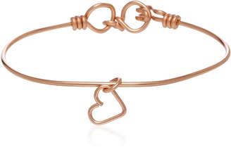 Atelier Paulin Nude 14K Rose Gold Heart Charm Bracelet