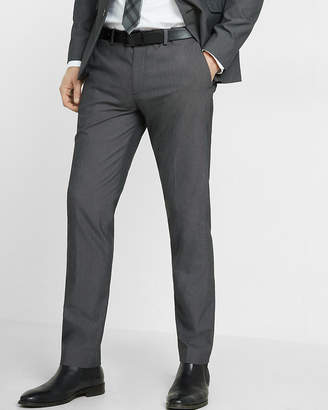 Express Extra Slim Black Micro Dot Suit Pant