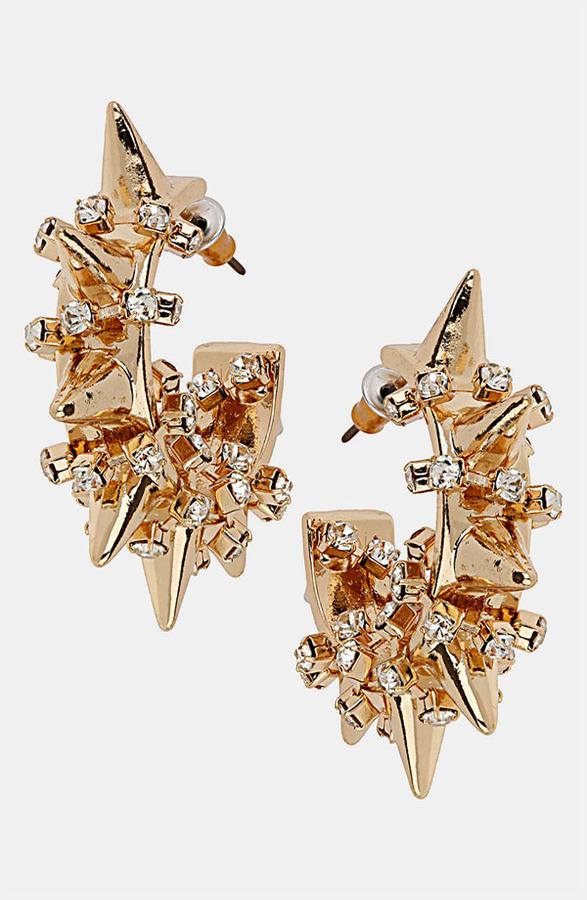 Topshop 'Barb Spike' Earrings