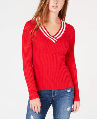Hooked Up by Iot Juniors' Ribbed Sweater