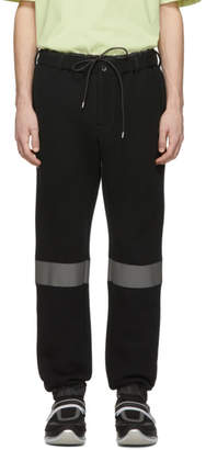 Sacai Black Reflective Sponge Lounge Pants