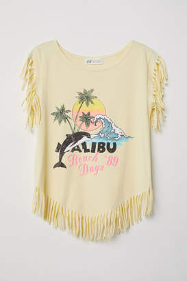 H&M Top with Fringe - Yellow
