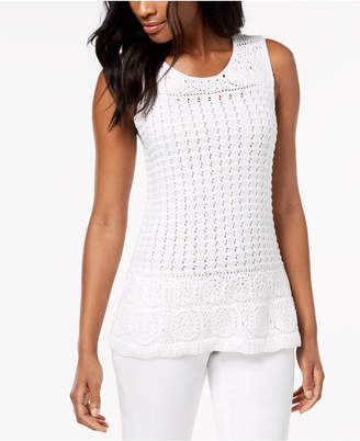 Style&Co. Style & Co Sleeveless Crochet Top, Created for Macy's