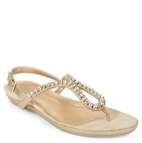 Kenneth Cole REACTION Lost Star Embellished Flat Sandals $69 thestylecure.com
