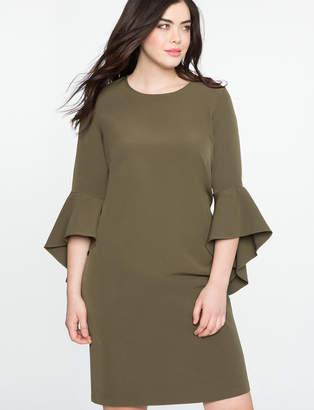 Plus Size Flounce Sleeve Shift Dress $99.90 thestylecure.com