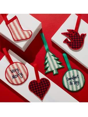Draper James x Crate and Barrel Fabric Christmas Ornaments