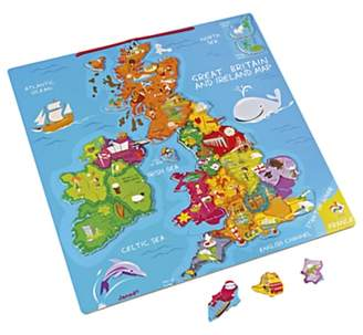Janod Great Britain And Ireland Wooden Magnetic Map Puzzle