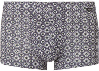 Hanro Printed Stretch-Cotton Boxer Briefs
