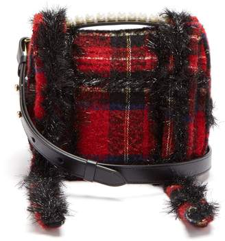 Simone Rocha Embellished tartan cross-body bag