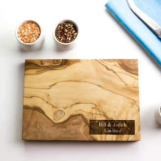 The Rustic Dish Personalised Olive Wood Chopping / Cheese Board