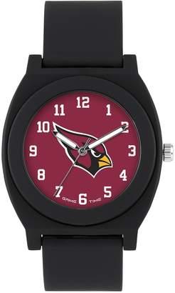 Game Time Men's 'FAN' Quartz Plastic and Rubber Casual Watch, Color:Black (Model: NFL-FNB-ARI)