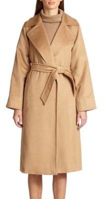Max Mara Manuela Camel Hair Wrap Coat $2,850 thestylecure.com