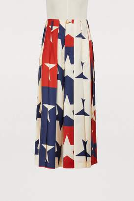 Gucci Star pattern silk culottes