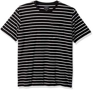 Lucky Brand Men's Casual Short Sleeve Stripe ONE Pocket Crew Neck TEE