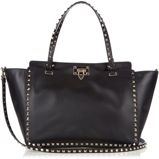 VALENTINO Rockstud smooth-leather tote $1,976 thestylecure.com