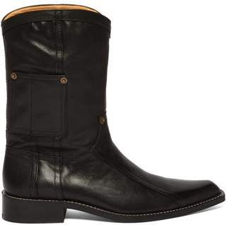 Martine Rose Leather Cowboy Boots - Mens - Black
